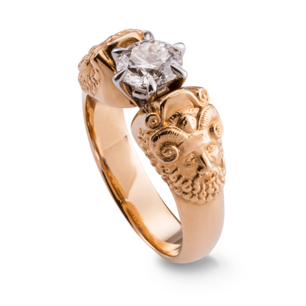 ZEUS-Ring mit Diamant 1,03 ct